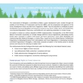 INFO BRIEF: REDUCING CORRUPTION RISKS IN MONGOLIA'S FOREST SECTOR
