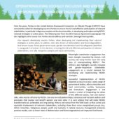 Mongolia the world's first boreal country to submit a modified Forestry Reference Level to the UNFCCC