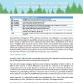 POLICY BRIEF - MECHANISMS FOR SUSTAINABLE FOREST MANAGEMENT (SFM) IN MONGOLIA