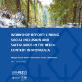 WORKSHOP REPORT: LINKING SOCIAL INCLUSION AND SAFEGUARDS IN THE REDD+ CONTEXT IN MONGOLIA