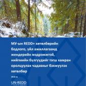МУ-ын REDD+ хөтөлбөрийн бодлого, үйл ажиллагаанд жендерийн мэдрэмжтэй, нийгмийн бүлгүүдийг тэгш хамран оролцуулах чадавхыг бэхжүүлэх хөтөлбөр